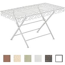 Tavoli Da Esterno Colorati.Amazon It Tavolo Da Giardino Ferro Clp