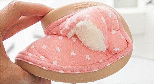 Minetom Uomo Donna Inverno Pantofole Di Cotone Arco Calde Unisex Slipper Banda Coperta Pantofole Rosa