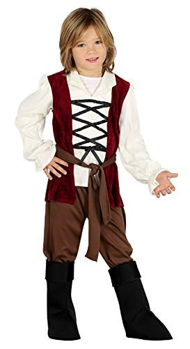 Boys Medieval Innkeeper Historical TV Book Film World Book Day School Fancy Dress Costume Outfit 3-12 Years (7-9 Years)