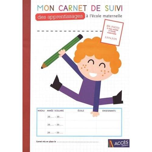 Mon carnet de suivi des apprentissages à l'école maternelle : Lot de 5 exemplaires