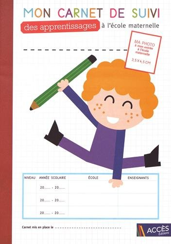 Mon carnet de suivi des apprentissages  l'cole maternelle : Lot de 5 exemplaires
