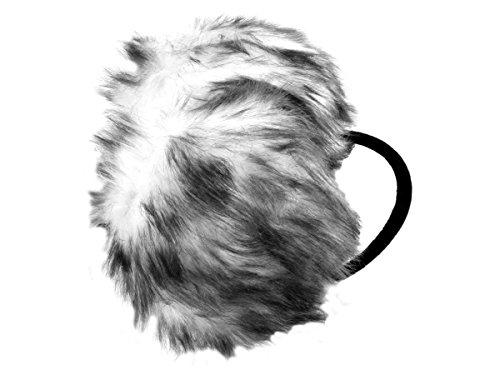 Alsino Ohrwärmer Kunstfell Ohrenschützer mit Nackenbügel Earmuffs (OW-03.1 weiß schwarz)