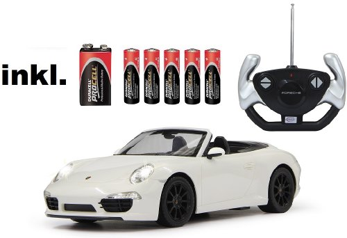 RC Porsche 911 Carrera S ferngesteuert 1:12 inkl. Batterien - Licht - RTR - (Farbe wählbar) (weiß 40 MHz)