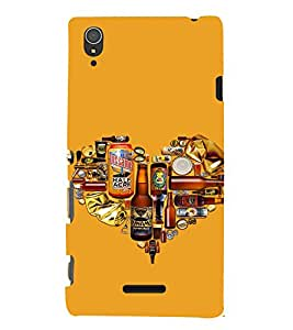 EPICCASE Man's World Mobile Back Case Cover For Sony Xperia T3 (Designer Case)