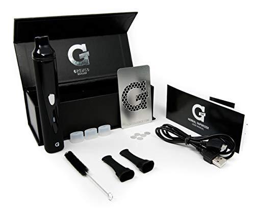 LHH g-pro vaporizzatore per erbe secche con 2200 mah battry, tre temperature, senza nicotina (nero)