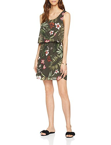 ONLY Damen Kleid Onlmaya S/L Overknee Dress Wvn, Mehrfarbig (Grape Leaf Aop: Creole Flowers), 40