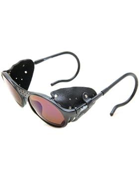 Julbo Sherpa occhiali da sole - telaio nero con categoria Spectron 3 lenti - protezioni laterali in pelle nera...