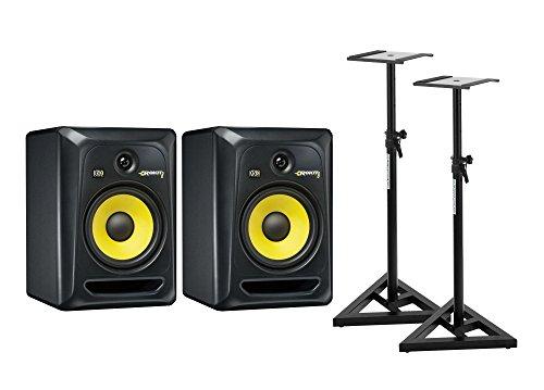 KRK RP8 ROKIT G3 SET inkl. Stative (2 x Aktive Studio Monitore, 2-Wege Bassreflex, 8