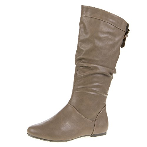 Ital-Design A-03de bottes pour femmes Brown - Khaki