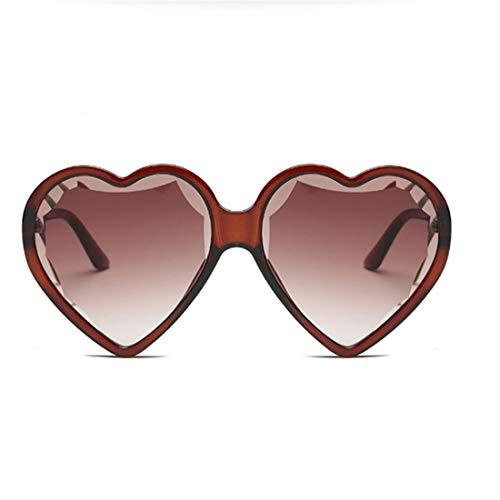 Olprkgdg Retro herzförmige Sonnenbrille Unisex oversizde Rahmen glasss für Partei zu tragen (Color : G)
