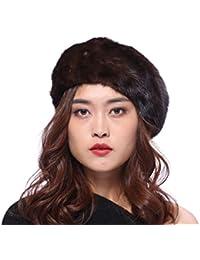 BeFur cappello da pittore berretto francese da donna invernale - cappello  in pelliccia di visone morbido delicato e… a9d45746d72b