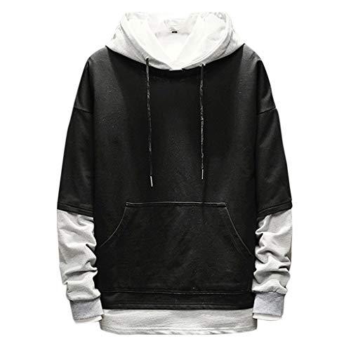 Realde Herren Langarm Hoodie T-Shirt Kapuzenshirt Mit Taschen Männer Pullover in Vielen Farben Kapuzenpullover für Fitness Freizeit | Weiß, Armee grün, schwarz, grau | Oberteile -