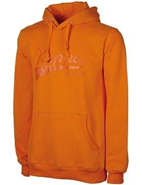 Kappa, Felpa unisex con cappuccio, Arancione (Orangeade), M