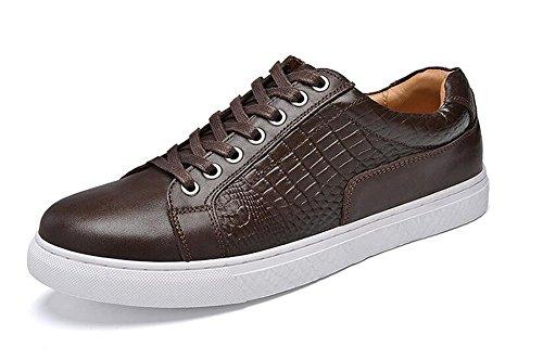 Scarpe Uomo Casual Scarpe Oxford Casual Scarpe Primo Livello Di Pelle Cintura Scarpe Uomo Donna Corea Trend Estate Scarpe Respirabili Brown