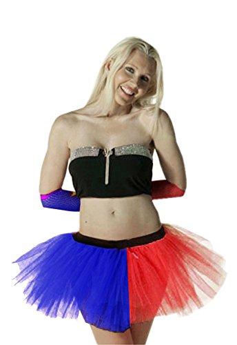 Momo&Ayat Fashions Ladies Mens American Independence Day Fancy Dress - Pix & Mix (M/L (EUR 40-42), Tutu Rot/Blau)