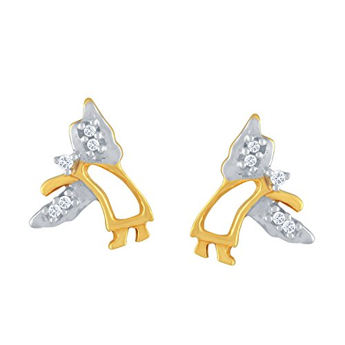 Giantti 14 carats Diamant pour femme Boucles d'oreille à tige (0.042 CT, VS/Si-clarity, Gh-colour)