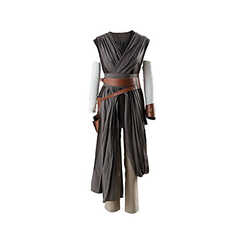 Star Rey Wars Kostüm Weste - Star Wars 8 The Last Jedi Rey Outfit Ver.2 Cosplay Kostüm Damen M