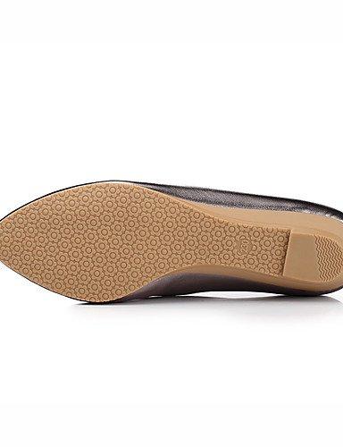 WSS 2016 Chaussures Femme-Bureau & Travail / Habillé / Décontracté-Noir / Rose / Argent / Or-Talon Compensé-Compensées / Bout Pointu-Talons- black-us5 / eu35 / uk3 / cn34