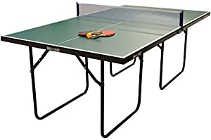 Wollowo Green 3/4 Size Junior Table Tennis/Ping Pong Table Foldable With Bats Review 2018 from Wollowo
