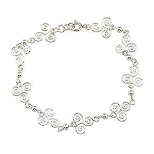 Bracelet triskel celtique fin argent massif