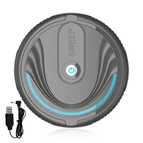 Robot Aspirador, Robot Aspirador Automático, Cepillo De Cerdas para Alfombra De Pelo Corto, USB Recargable...