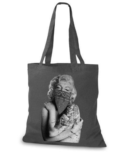 StyloBags Jutebeutel / Tasche Tattooed Marilyn Darkgrey
