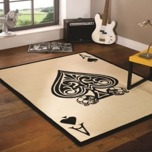 Flair Rugs Retro Funky Ace Of Spades Rug, Multi, 120 x 160 Cm produced by Flair Rugs - quick delivery from UK.
