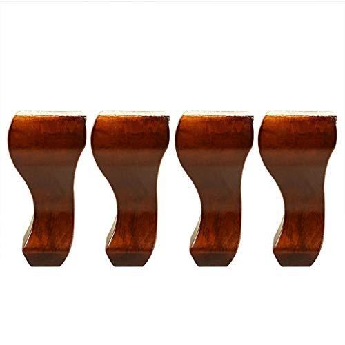 Satz von 4 Möbelbeinen, Füße für Möbelersatz, DIY Massivholz Sofa Bein für Couch Bad Eitelkeit Bücherregal Schrank Stuhl TV-Ständer -