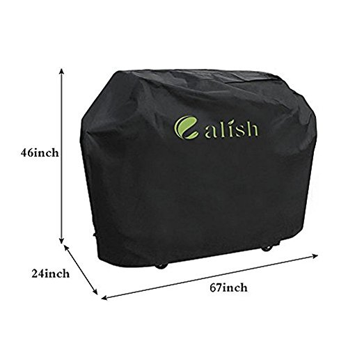 CALISH Barbecue Cover Heavy Duty - Extra Large (Black)