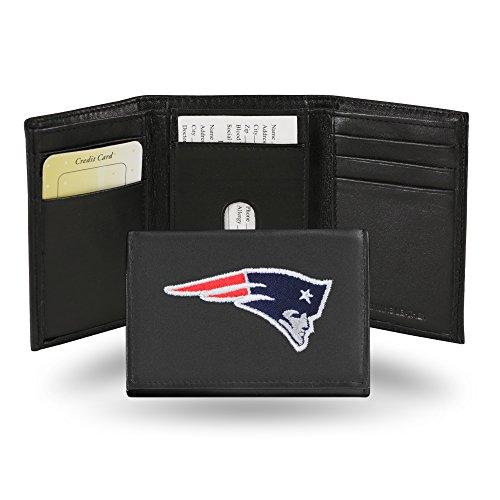 Unbekannt Besticktes Portemonnaie von NFL, dreifach gefaltet, unisex Herren, RTR1501, New England Patriots, einheitsgröße