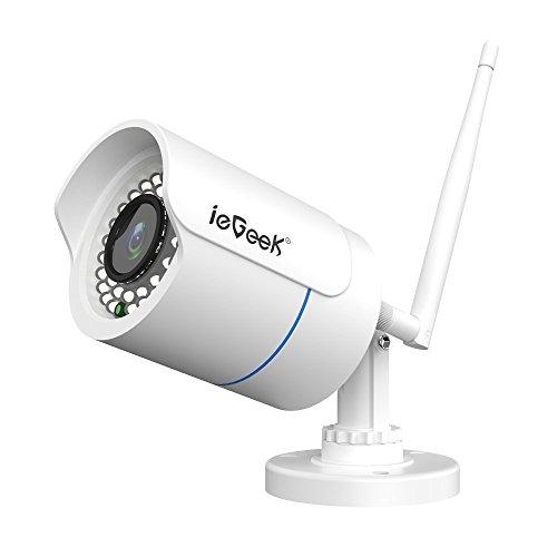 ieGeek Telecamera IP Camera Esterno 1080P Videosorveglianza WIFI con Rilevamento del Movimento, Visione Notturna fino a 20m, Vista a Distanza via Smart Phone/Tablet /PC Windows