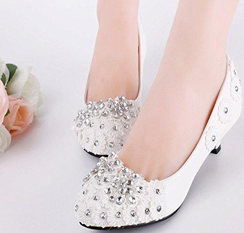 XINJING-S Bowknot High Heels Schuhe Party Hochzeit Frauen Pumps Heels OL Kleidung Schuhe Sandalen Flach