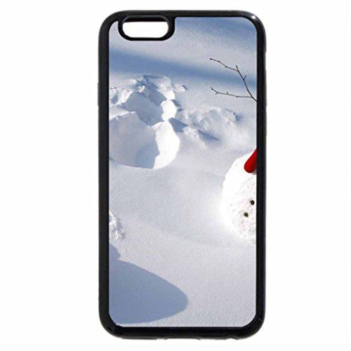 iPhone 6S / iPhone 6 Case (Black) Cute Snowmen