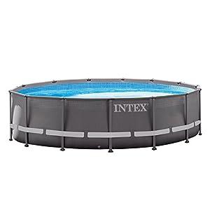 Intex Ultra Frame – Piscina desmontable,  488 x 122 cm, con depuradora y complementos (28324NP)