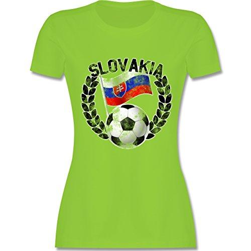 EM 2016 - Frankreich - Slovakia Flagge & Fußball Vintage - tailliertes  Premium T-Shirt