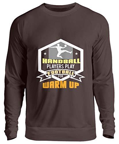 Schuhboutique Doris Finke UG (haftungsbeschränkt) Play Football Handball to warm up - Unisex Pullover -XL-Schokolade