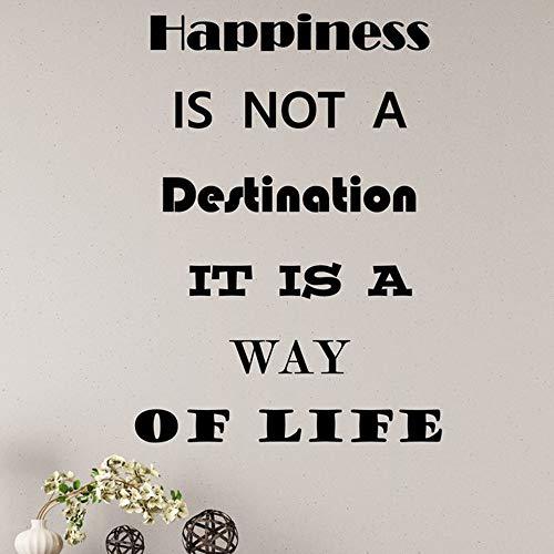 Decal Aufkleber Motivation Zitat Worte Glück ist kein Ziel inspirierende Buchstaben Pink 56x77cm ()