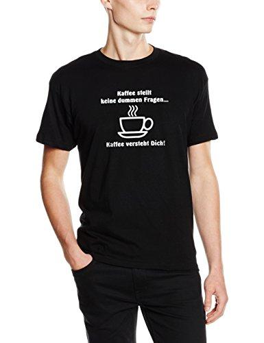 Shirtzshop T-shirt Kaffee stellt keine dummen Fragen - Kaffee versteht dich, Schwarz, XL,  Preisvergleich