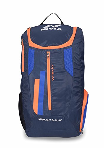 Nivia 5190 Dominator Polyester Backpack (Blue)