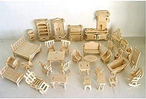 Piramigo Minyatür Ahşap Ev Eşyaları Maketi 184 Parça
