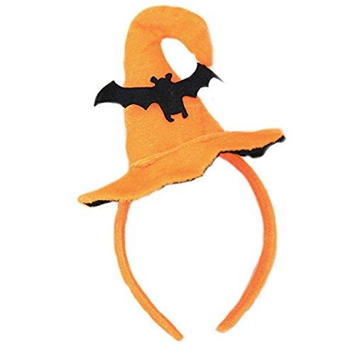 Halloween Stirnband, Kürbis Haarband Schädel Haar Spange Spinne/Fledermaus /Orange Hexe Hut Haare hoop Cosplay Kostüm Zubehör Kopfschmuck Haarschließe für Kinder Erwachsene Party Dekoration (Block Kopf Kostüm)
