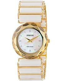 Jowissa J1.004.M - Reloj analógico de cuarzo para mujer con correa de cerámica, color blanco