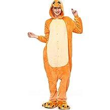 Molly Kigurumi Pijamas Traje Disfraz Animal Adulto Animal Pyjamas Cosplay Homewear S Amarillo Dragón