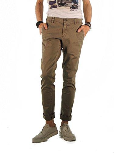 Mason's pantaloni uomo chino regular fit tinta unita 2PN2A2935 (44, TORTORA)