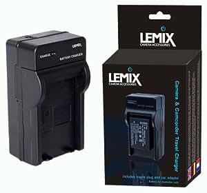 Lemix (FV50) Chargeur de voyage pour certains appareils SONY DSLR, DSC, HDR & NEX + prises UE/GB/US/automobile