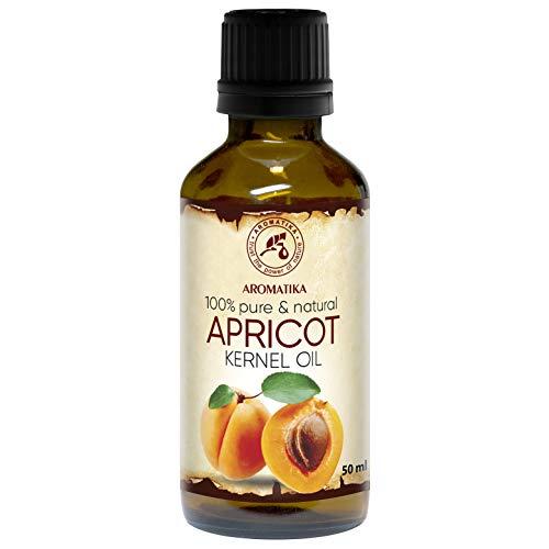 Olio di Albicocca 50ml - Prunus Armeniaca - Italia - 100% Naturale - Cura Intensiva per Viso - Corpo e Capelli - Ottimo per i Massaggi - Bellezza - Cura del Corpo - Olio di Albicocca
