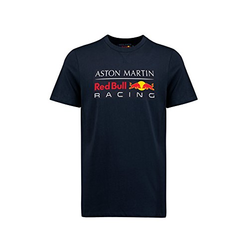 Aston Martin Mütze RBR Formel 1 Red Bull Racing-Team Herren-T-Shirt mit großem Logo, navy, Mens (M) Chest 96-100cm