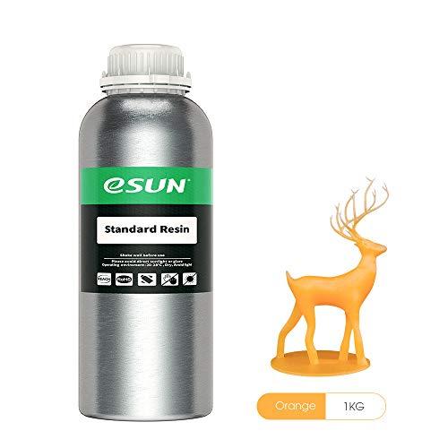 eSUN LCD UV 405nm Resina Rápida Resina Estandar para Fotón LCD Impresora 3D Fotopolímero Resin 1000ml Naranja