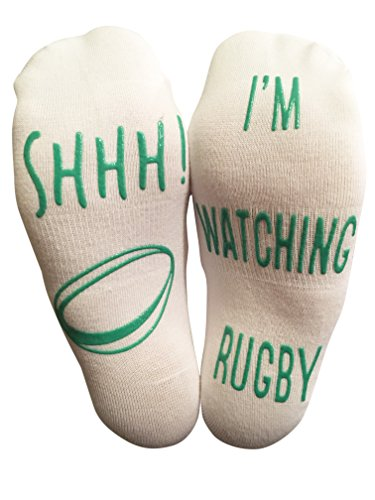 BRING ME SOCKS 'SHHH I'm Watching Rugby' Funny Ankle Socks - For Rugby Lovers