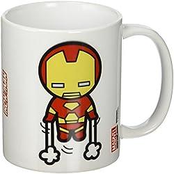 Marvel - Taza de cerámica con diseño de Iron Man, Multicolor, Estilo Kawaii